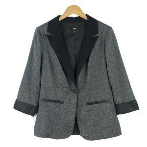 BCX   Black & Gray Blazer Jacket